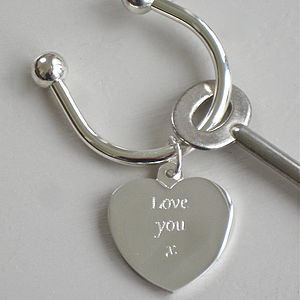Silver Plated 'Love You' Keyring - view all father's day gifts
