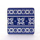 Set Of Four Fair Isle Coasters