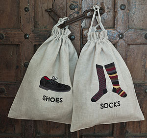 Men's Black Socks And Shoe Bag - storage & organisers
