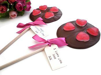 Personalised Chocolate Heart Lollipop