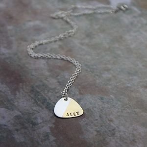 Personalised Plectrum Necklace - necklaces & pendants
