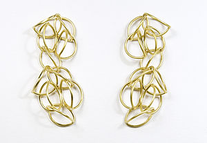 18Ct Gold Vermeil Philippa Earrings - earrings