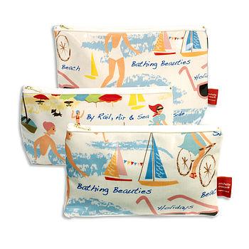 Lowestoft Beach Cosmetic Bag