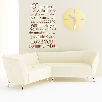 Family Wall Quote Sticker Uk
