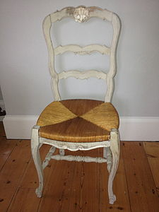 Painted Vintage French Chair - furniture