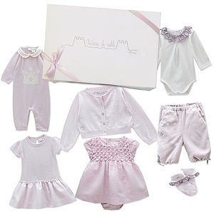 Newborn Baby Girl's First Wardrobe In Pink