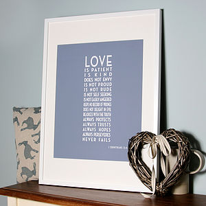 Art Deco 'Love Is Patient' Canvas Print - literature