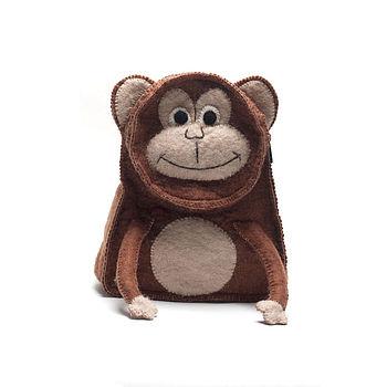 Handmade Felt Monkey Rucksack