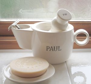 Personalised Shaving Scuttle Mug Bowl - men's grooming