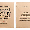 'Let The Love Grow' Seed Packet Favour