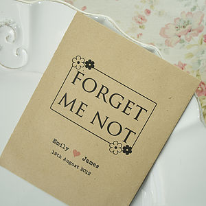 'Forget Me Not' Seed Packet Favour