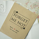 10 'Forget Me Not' Seed Packet Favours