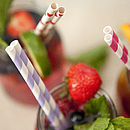 Set Of 25 Patterned Paper Straws