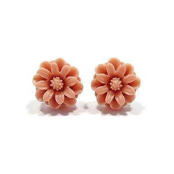 Bloom Flower Stud Earrings
