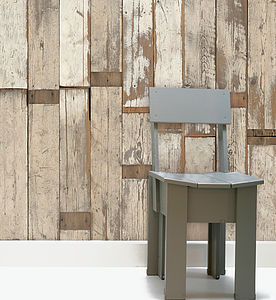 Dutch Scrapwood Wallpaper Two - natural materials