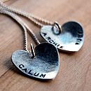 Personalised Handmade Heart Pendant