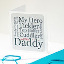 Personalised Dad Typographic Card