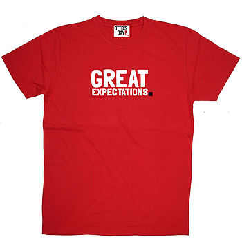 Great Expectations t shirt red