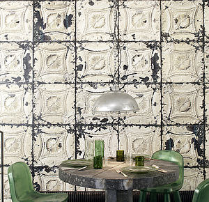 Merci Brooklyn Tin Tiles Wallpaper TIN 01 - furnishings & fittings