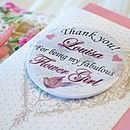 Personalised Magnet Bridesmaid Thank You Card