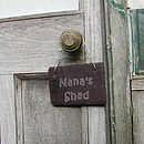 Slate Sign for Nana's Shed