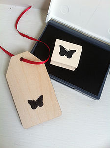 Vintage Style Butterfly Stamp - office & study