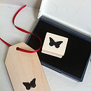 Vintage Style Butterfly Stamp