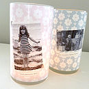 Personalised Glass Candle Holder