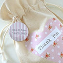 Thumb wedding personalised favour bags