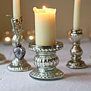 Pair Of Mercury Silver Candlesticks