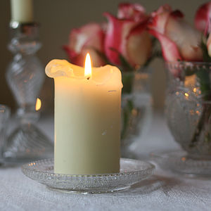 Set Of Two Pressed Glass Candle Holders - lighting