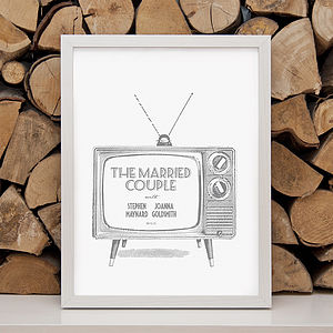 Personalised 'Wedding On The Box' Print - shop by price