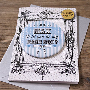 Personalised Magnet Page Boy Invite Card - shop by category