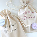 Personalised Wedding Favour Gift Bag