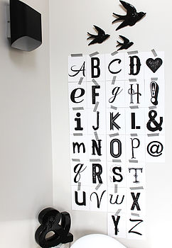 Set Of Alphabet Cards