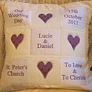 Personalised Wedding Memory Cushion*