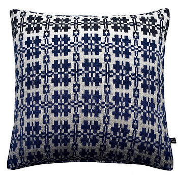 Welsh Blanket Knitted Cushion