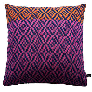 Diamond Twill Knitted Cushion - cushions