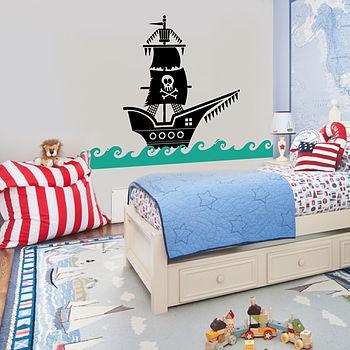 Pirate Ship Wall Sticker Decal