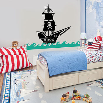 Pirate Ship Wall Sticker Decal
