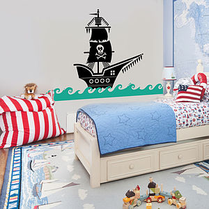 Pirate Ship Wall Sticker Decal - baby's room
