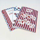 Pack Of Six Boy's Party Notebooks