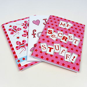 Pack Of Six Girl's Party Notebooks - winter sale