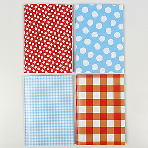 Gingham Or Spotty Pocket Notebook - winter sale