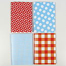 Gingham Or Spotty Pocket Notebook