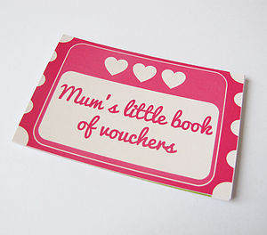 Mum's Little Book Of Vouchers Token Book - mother's day cards