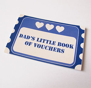 Dad's Little Book Of Vouchers Token Book - father's day cards