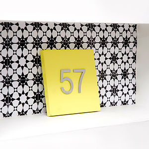 Hacienda House Number Plate - home accessories