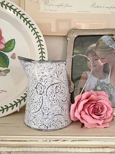 Rustic Tin Jug - table decorations