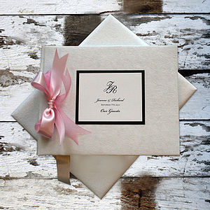 Wedding Guest Book: Large Size - personalised